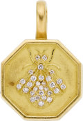 Estate Jewelry:Pendants and Lockets, Diamond, Gold Pendant, Slane & Slane. ...