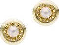 Estate Jewelry:Earrings, Mabé Pearl, Diamond, Gold Earrings, Aletto & Co. . ...