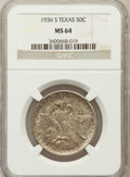 Commemorative Silver: , 1936-S 50C Texas MS64 NGC NGC Census: (188/1057). PCGS Population(485/1375). Mintage: 9,055. Numismedia Wsl. Price for pro...