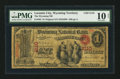 National Bank Notes:Wyoming, Laramie City, WYT- $1 Original Fr. 382 The Wyoming NB Ch. # 2110. ...