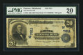 National Bank Notes:Oklahoma, Pawnee, OK - $20 1902 Plain Back Fr. 652 The Pawnee NB Ch. # (W)7611. ...