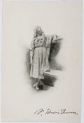 Autographs:Artists, Frank Edwin Elwell (1858-1922, American Sculptor). SignedPhotographic Image. Very good....