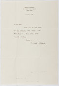 Autographs:Authors, Sidney Howard (1891-1939, American Playwright). Autograph Letter Signed. Very good....