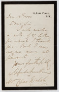 Autographs:Authors, Alfred Austin (1835-1913, British Writer and Poet Laureate).Autograph Letter Signed. Very good....