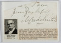 Autographs:Authors, Alfred Austin (1835-1913, British Writer and Poet Laureate).Clipped Signature. Very good....