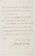 Autographs:Authors, John Russell Bartlett (1805-1886, American Historian and Linguist). Autograph Letter Signed. Very good....