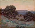 Fine Art - Painting, American:Modern  (1900 1949)  , GRANVILLE SEYMOUR REDMOND (American, 1871-1935). California Oaksat Dusk. Oil on board. 8 x 10 inches (20.3 x 25.4 cm). ...