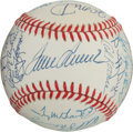 Baseball Collectibles:Balls, 1969 New York Mets Reunion Team Signed Baseball (30 Signatures)....