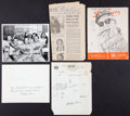 Baseball Collectibles:Others, Baseball Greats Signed and Unsigned Memorabilia Lot of 5....