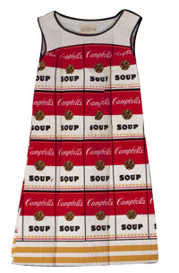 ANDY WARHOL (American, 1928-1987) Souper Dress, 1968 Cellulose and cotton 36 x 18-1/2 inches (91