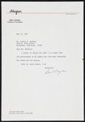 Golf Collectibles:Autographs, Ben Hogan Signed Letter....