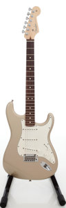 Musical Instruments:Electric Guitars, 2006 Fender 60th Anniversary Stratocaster Shoreline Gold Solid BodyElectric Guitar, Serial # Z6115138. ...