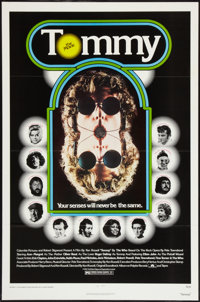 """Tommy (Columbia, 1975). One Sheet (27"""" X 41"""") Flat Folded. Rock and Roll"""