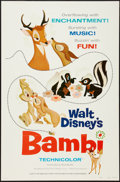 "Movie Posters:Animation, Bambi (Buena Vista, R-1975). One Sheet (27"" X 41"") Flat Folded. Animation.. ..."