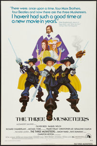 """The Three Musketeers (20th Century Fox, 1974). One Sheet (27"""" X 41"""") Flat Folded. Swashbuckler"""