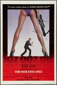"For Your Eyes Only (United Artists, 1981). One Sheet (27"" X 41"") Advance. James Bond"