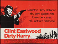 "Dirty Harry (Warner Brothers, 1971). British Quad (29.5"" X 39""). Crime"