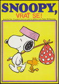 """Movie Posters:Animated, Snoopy, Come Home! (National General, 1974). Czech Poster (11.5"""" X16.5""""). Animated.. ..."""