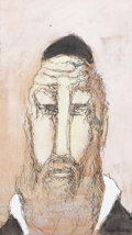 Fine Art - Work on Paper:Drawing, BEN-ZION WEINMAN (American, 1897-1987). Patriarch. Ink andwash on paper. 11-1/4 x 6-1/2 inches (28.6 x 16.5 cm). Signed...