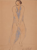 Fine Art - Work on Paper:Drawing, ABRAHAM WALKOWITZ (American, 1880-1965). Isadora Duncan. Inkand watercolor on paper. 10-3/4 x 8 inches (27.3 x 20.3 cm)...