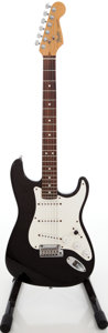 Musical Instruments:Electric Guitars, 1989 Fender Stratocaster Black Solid Body Electric Guitar, Serial #E943054....