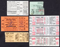 Baseball Collectibles:Tickets, 1947-59 Boston Red Sox Ticket Stubs Lot of 7....