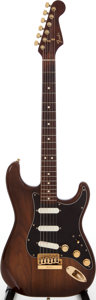 Musical Instruments:Electric Guitars, 1981 Fender The Strat Walnut Solid Body Electric Guitar, Serial #CC12374....