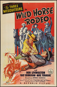 "Wild Horse Rodeo (Republic, 1937). One Sheet (27"" X 41""). Western"