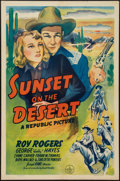 """Movie Posters:Western, Sunset on the Desert (Republic, 1942). One Sheet (27"""" X 41"""").Western.. ..."""