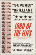 "Movie Posters:Adventure, Lord of the Flies (Continental, 1963). One Sheet (27"" X 41"").Adventure.. ..."