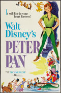 "Movie Posters:Animation, Peter Pan (Buena Vista, R-1969). One Sheet (27"" X 41""). Animation.. ..."