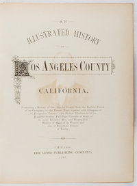 [Los Angeles]. An Illustrated History of Los Angeles County California. Lewis, 1889