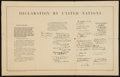 """Movie Posters:War, World War II Poster (U.S. Government Printing Office, 1942 ).United Nations Declaration Poster (28"""" X 17.75""""). War.. ..."""