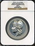 Expositions and Fairs, 1893 Columbian Exposition, Liberty Head High Relief MS63 NGC. Eglit-101. Aluminum, 90mm. Chicago, IL.. Ex: Presidential Co...
