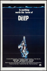 "The Deep (Columbia, 1977). International One Sheet (27"" X 41"") Style B, Flat Folded. Adventure"