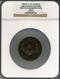 Expositions and Fairs, 1893 World's Columbian Exposition, Christoforo Columbo MS64 NGC. Eglit-107. Bronze, 60mm. Chicago, IL....