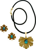 Estate Jewelry:Suites, Turquoise, Gold, Leather, Jewelry Suite, Buccellati. ...