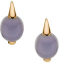 Estate Jewelry:Earrings, Chalcedony, Gold Earrings, Pomellato. ...