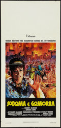"Movie Posters:Historical Drama, Sodom and Gomorrah (Titanus, 1962). Italian Locandina (13"" X 27"").Historical Drama.. ..."