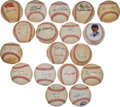 Baseball Collectibles:Balls, Baseball Stars Signed Baseballs Lot of 18....
