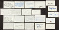 Basketball Collectibles:Others, Basketball Greats Signed Notecards lot of 21....