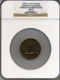 Expositions and Fairs, 1893 World's Columbian Exposition, Landing of Columbus MS63 NGC. Eglit-54. Bronze, 50mm. Chicago, IL....