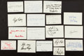 Golf Collectibles:Autographs, Golf Greats Signed Notecards lot of 17....