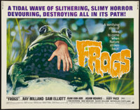 "Frogs (American International, 1972). Half Sheet (22"" X 28""). Horror"