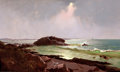 American:Marine, AMERICAN SCHOOL (19th century). Coastal Scene. Oil oncanvas. 18 x 30 inches (45.7 x 76.2 cm). ...