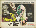 "Movie Posters:Horror, Die Monster Die! (American International, 1965). Half Sheet (22"" X 28""). Horror.. ..."