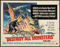 """Movie Posters:Science Fiction, Destroy All Monsters (American International, 1969). Half Sheet (22"""" X 28""""). Science Fiction.. ..."""