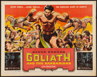 "Goliath and the Barbarians & Other Lot (American International, 1959). Half Sheets (2) (22"" X 28""). Ad..."