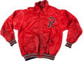 Baseball Collectibles:Uniforms, 1950 Rochester Red Wings Game Worn Warmup Jacket....