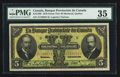Canadian Currency: , Montreal, PQ- Banque Provinciale du Canada $5 Jan. 31, 1919 Ch. #615-14-06. ...
